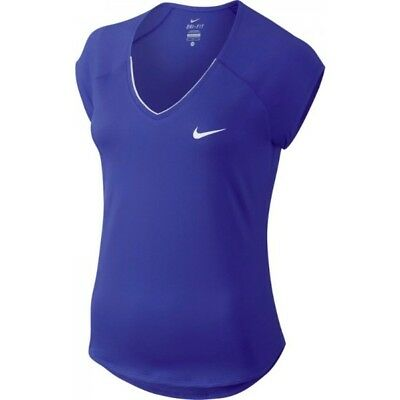 Girls NIKE COURT PURE TENNIS Top Dri Fit Size Large12-13 years 832334-452