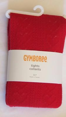 NWT Gymboree Size 5-7 Red Valentine's Hearts Christmas Holiday Tights 5 6 7