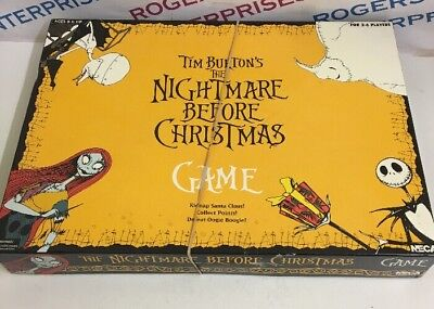 Tim Burton The Nightmare Before Christmas Board Game 2004 Vintage USED Complete