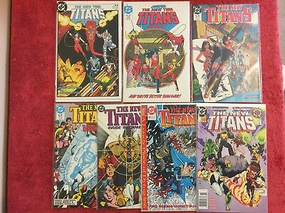 New Teen Titans 2nd 1 20 55 56 57 61 0 DC LOT of 7 1984 Wolfman Perez Tanghal