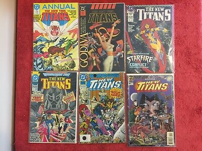 New Teen Titans 2nd Annual 2 3 6 7 8 10 DC LOT of 6 1986 Wolfman Simonson Swan