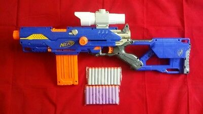 Nerf N-Strike Longstrike CS-6 Sniper Rifle Gun Blaster With 2 x Mags