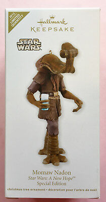 Hallmark Keepsake Christmas ornament Star Wars Momaw Nadon 2012 Mint in Box