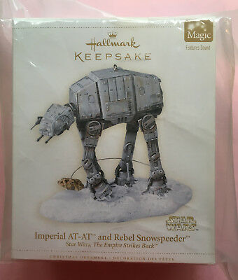 Hallmark Keepsake Christmas ornament Star Wars Imperial At-At Snow 2012 Mint Box