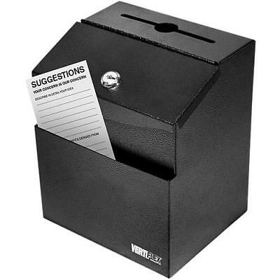 Vertiflex Steel Suggestion Box Black