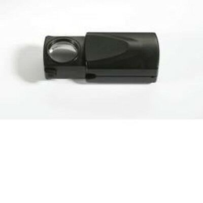 Pull Out-magnifier with LED, magnification 20 x, black, Ø 21 mm