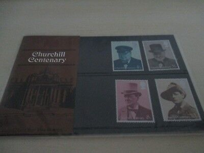 Winston Churchill Centenary 4 Stamp Set Still Sealed 1974