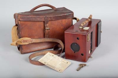 """Vintage ~ c1888 ~ """"Rouch's Eureka Detective Camera"""" with Leather Case"""