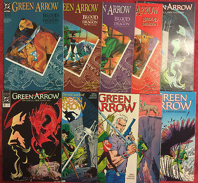 GREEN ARROW 21 22 23 24 25 26 27 28 29 30 DC Run of 10 VF+ Grell Jurgens 1989