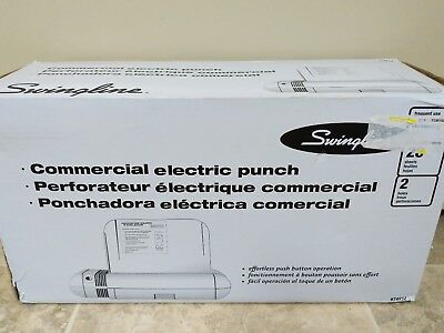Swingline 28-Sheet Commercial Electric Two-Hole Punch 74532