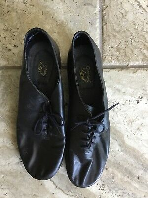 Giordano Leos Tap Dance Shoes Size 9.5 Black Leather Womens Preowned