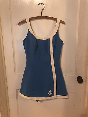 d362d980b8e Vintage Womens Bathing Suit maybe size 14 or 16. One Piece Skirted AWESOME!