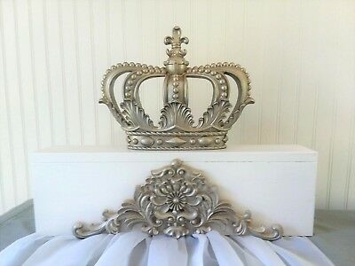 NEW**  Canopy Bed Crown/Drapes Baby Nursery complete set Romantic Champagne