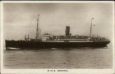 Steamship RMS R.M.S Samaria c1920 Used Real Photo Postcard - Cover