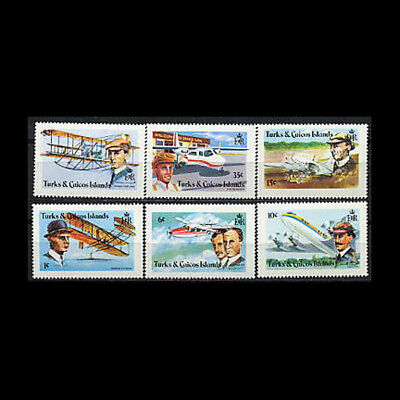 Turks & Caicos, Sc #347-52, MNH, 1978, Aviation, Wright Brothers, CL147F