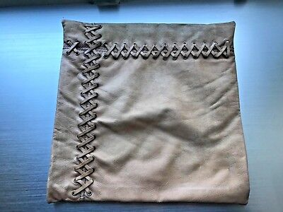 "Restoration Hardware Baby & Child Baseball Glove Leather Pillow Cover 14"" x 14"""