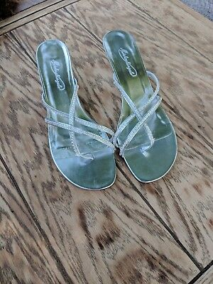 Sparkle Dress Sandals Silver Sz 10