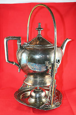 Wilcox Silverplate Tilting Teapot with Stand and Heater