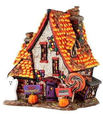 Sweet Trappings Cottage Dept 56 Snow Village Halloween 4051012 house witch candy