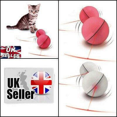 Flash LED Cat Dog Toy Ball Laser Interactive Rolling Funny Pet Exercise Automati