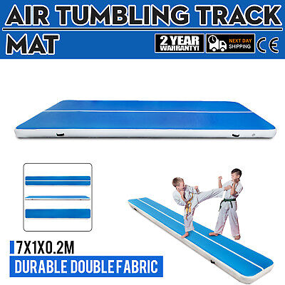 23Ft Air Track Floor Tumbling Inflatable Gym Mat Water Sport Gymnastic Gym Mats