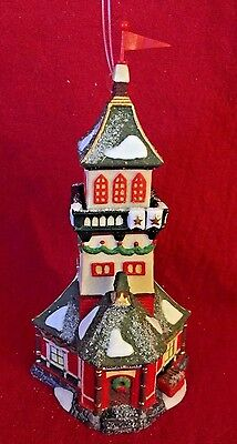 North Pole Santa's Lookout Tower Ornament Dept 56 98742 Christmas Snow Retired