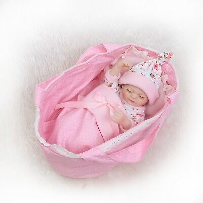 10''mini Full Body Realistic Reborn Baby Dolls In UK Silicone Lifelike Xmas Gift