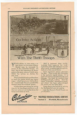 Vintage, Original, 1918 -  Columbia Bicycles Ad - Bike, Cycle, Two-Wheeler