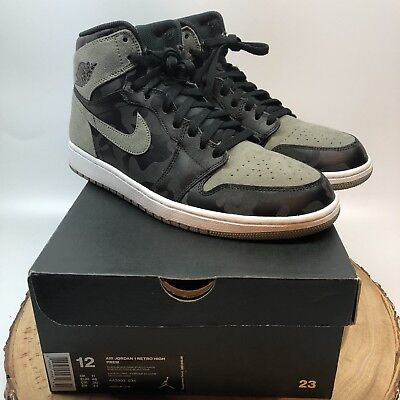 a158194cb31 Air Jordan 1 Retro High PREM AA3993 034 Shadow Camo Size 12 Chicago Fear 3M  III