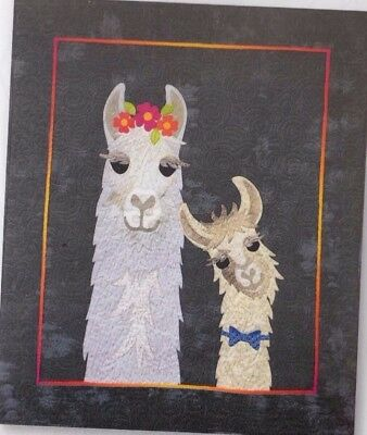 Mama Llama Love - fun applique wall quilt PATTERN - Hissyfitz