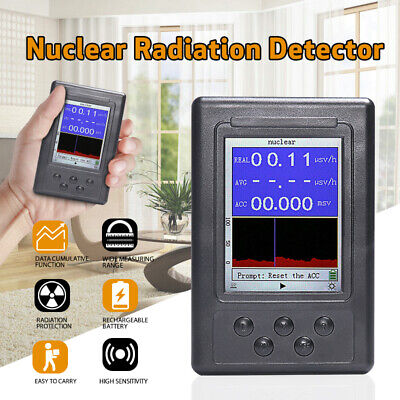 Display Screen Dosimeter Geiger Counter Radiation Nuclear X-ray Gamma Detector