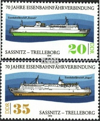 DDR 2429-2430 (complete.issue) used 1979 Train ferry