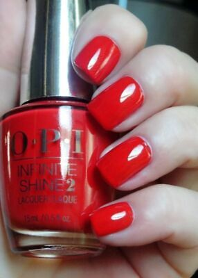 OPI Infinite Shine Nail Polish Lacquer Enamel ISL09 Unequivocally Crimson 15ml