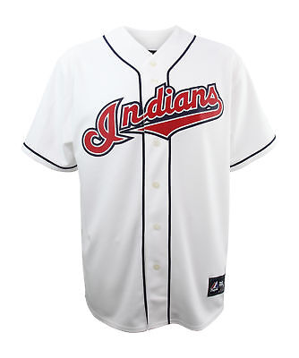 Majestic Cleveland Indians White Home Jersey Official MLB Merchandise