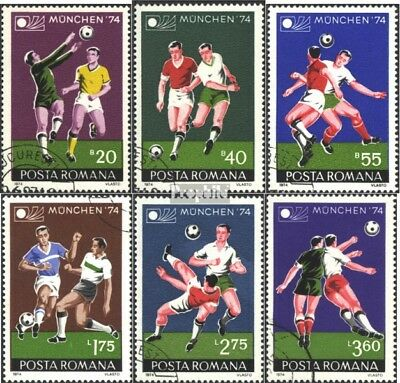 Romania 3203-3208 (complete issue) used 1974 World Cup 1974