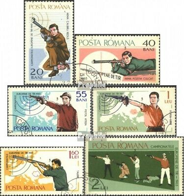 Romania 2407-2412 (complete issue) used 1965 european champions