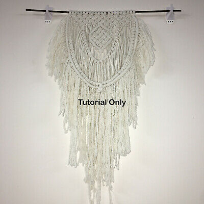 SHAGGY WALL HANGING MACRAME PATTERN Weave/Wall Decor/Rope/Cord/BohoDIY/Craft/Art