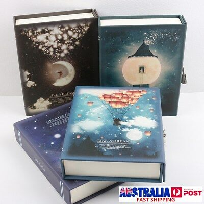 LIKE A DREAM 144 Page Notepad Journal Diary Hardback Notebook With Lock Box Gift