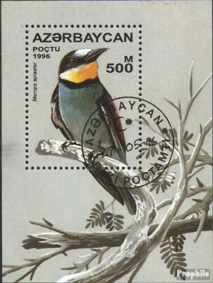 Aserbaidschan block23 (complete issue) used 1996 Songbirds