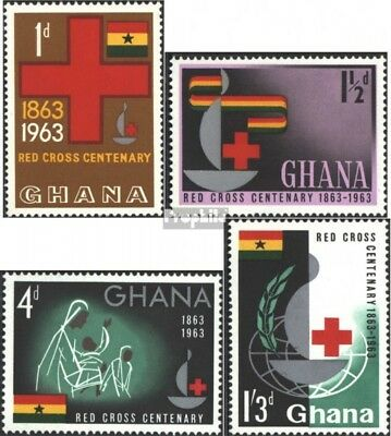 Ghana 145A-148A (complete issue) unmounted mint / never hinged 1963 Internationa