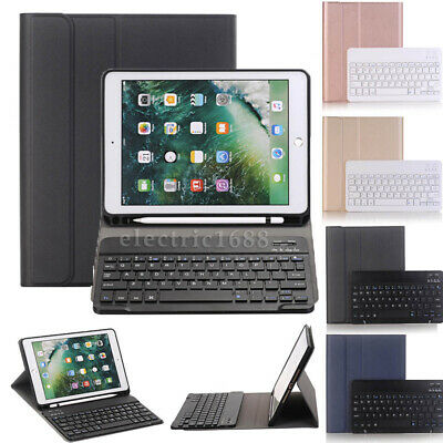 "For iPad 6th Gen 9.7"" 2018 Bluetooth Keyboard Leather Case WITH Pencil Holder AU"