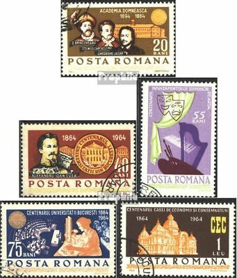 Romania 2338-2342 (complete issue) used 1964 100 years Uni Buch