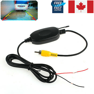 2.4G 12V Wireless RCA DC Rear View Video Transmitter Receiver Backup Car Camera