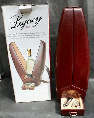 Picnic Time Legacy Collection Encore Single Bottle Wine Tote in original box