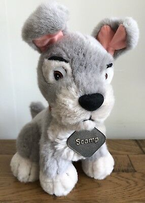 "DISNEY STORE Lady & The Tramp Scamp 9"" Plush/Soft Toy Free UK P&P!"