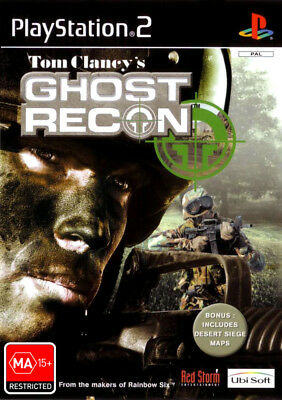 Tom Clancys Ghost Recon PS2 Game USED