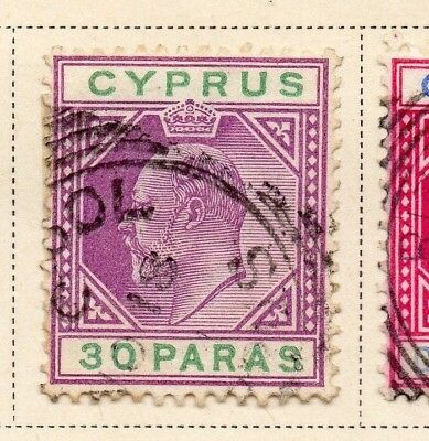 Cyprus 1903 Early Issue Fine Used 30p. 220328