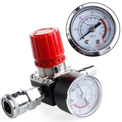 "1/4"" 180PSI Air Compressor Pressure Regulator Gauge Regulating Control Valve New"
