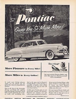 1952 Pontiac Ad gives you so much more
