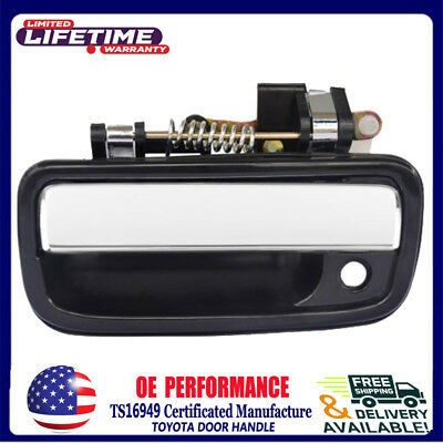 Outer Black & Chrome Front Left Driver Side Door Handle For 95-04 Toyota Tacoma
